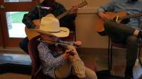 Brandon Richardson, Single Eye Ministries, little fiddler, fiddle, len babb western art, cowboy artist,