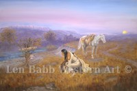 Native American, Len Babb, Western Art, Indian, First Peoples